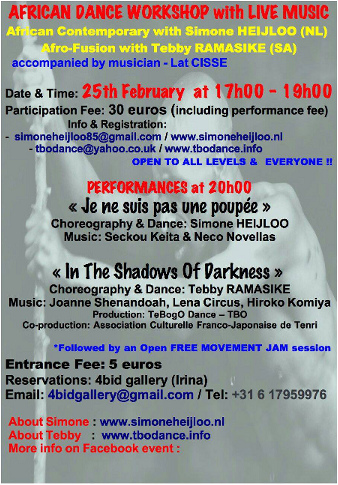 Amsterdam African Dance Performance - Amsterdam 25.02.2017 - Info