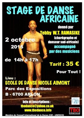 African Dance workshop in Arlon