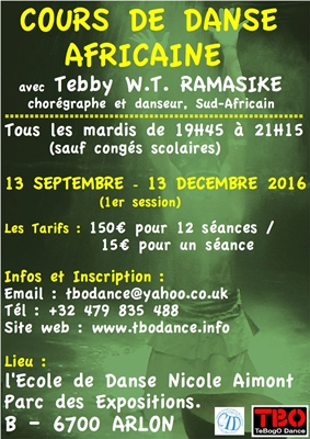 African dance course - Arlon - 2016-2017